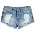 H&M Worn denim shorts