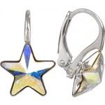 Troli Dívčí náušnice Star 10 mm Crystal AB