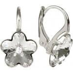 Troli Dívčí stříbrné náušnice Flower Crystal