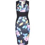 Černo-modré šaty Plunge M