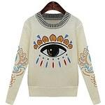 LightInTheBox Women's Stylish Print Knitting Sweater