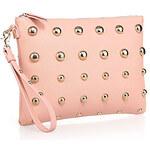 PLUS New Arrived PU Leather Wristlets Korean Rivet Studded Clutches Pink 311.521cm