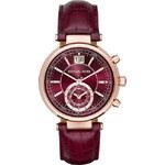 Michael Kors hodinky MK2426 burgandy leather strap