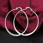 LightInTheBox High Quality Elegant Slivery Alloy Women's Hoop Earring(1 Pair)