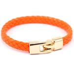 JewelsHall Náramek kožený lakovaný - oranžová