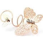 JewelsHall Prsten spirála motýl - gold