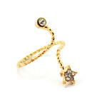 JewelsHall Prstýnek spirála - zlatá hvězda