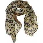 Šála Leopard hnědá B64084