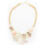 Zlato-růžový náhrdelník Saccus