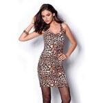 Venca Šaty s leopardím vzorem kaštanová
