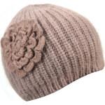 INVUU Dámská čepice z angorské vlny 14H0934 beige