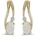 Klenota Zlaté opálové náušnice s diamanty