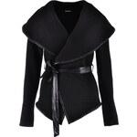 Krátký kabát s klopy Hailys černý