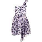 Topshop Floral One Shoulder Prom Dress