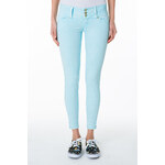 Tally Weijl Blue Button Detail Ankle Pants