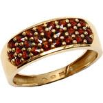 Bohemia Garnet Zlatý granátový prsten - 267T, (Au585) vel. 51