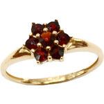Bohemia Garnet Zlatý granátový prsten - 002I, (Au750) vel. 52