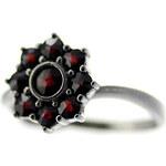 Bohemia Garnet Stříbrný granátový prsten - 030H, (rt) vel. 50