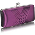 LS fashion společenská saténová kabelka LSE0062 fialová