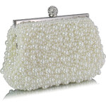 LS fashion společenská kabelka vintage LSE00296 slonová kost
