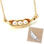 Lesara Halskette mit Erbsen-Anhänger - Gold