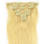 LightInTheBox 15 Inch 7Pcs 70g Clip in Remy Human Human Hair Extension Straight Multiple Colors Available