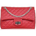 Kuba Women's Fashion Solid Color Chain Handbag(Red)