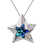 LightInTheBox Women's Swarovski Elements Blue Crystal Maple Sea Star Necklace