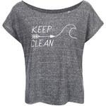 "DOBRO ""Dobré"" šedé dámské tričko KEEPItCLEAN"
