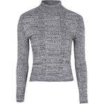 Topshop PETITE Ribbed Roll Neck Jumper