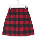 Topshop Buffalo Check High-Waisted Skirt by Boutique