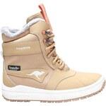 Kangaroos Juniorská zimní zateplená obuv Kanga-Tex 2024 wheat 1450A 140