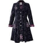 Nomads LUXE vyšívaný sametový kabát fialový - Velikost oblečení pro dospělé: 14
