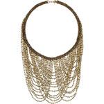Topshop Mehrreihige Halskette mit drapierten Perlen - Gold