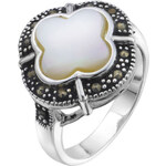 Giani Silver Plated Mother of Pearl Ring