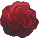 heine home Koberec s vysokým vlasem Růže červená 120 cm, kruh