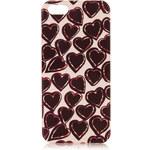 Topshop iPhone 5-Schutzhülle mit Herzchendruck - Rot