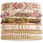 Hipanema Love - Armband Manschette - rosa