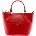 Giulia Massari Dámská kožená kabelka 2415 Red