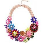 Náhrdelník s květinami barevný J00049