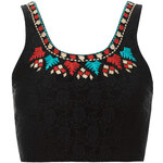 Topshop Folk Embroidered Bralet