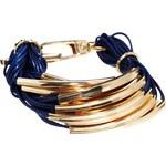 Ashiana Blue Multi Chain Gold Bracelet