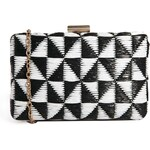 Liquorish Basket Weave Clutch Bag