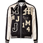 Marc by Marc Jacobs Satin Logo Letterman Jacket