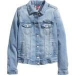 H&M Džínová bunda s potiskem