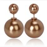 003 Naušnice oboustranné perly - zlatý lesk