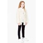 Mango Kids - Dětský kabát s kožíškem 104-164cm - písková