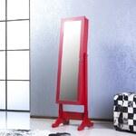 Bestline Stojací zrcadlo se šperkovnicí Adriana, červené