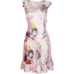 Galliano Dámské hedvábné šaty RR7421_45101_weiss