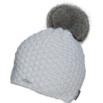 CAPU Zimní čepice s bambulí z králíka White 308-D